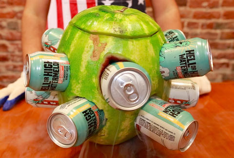 watermelon beer cooler