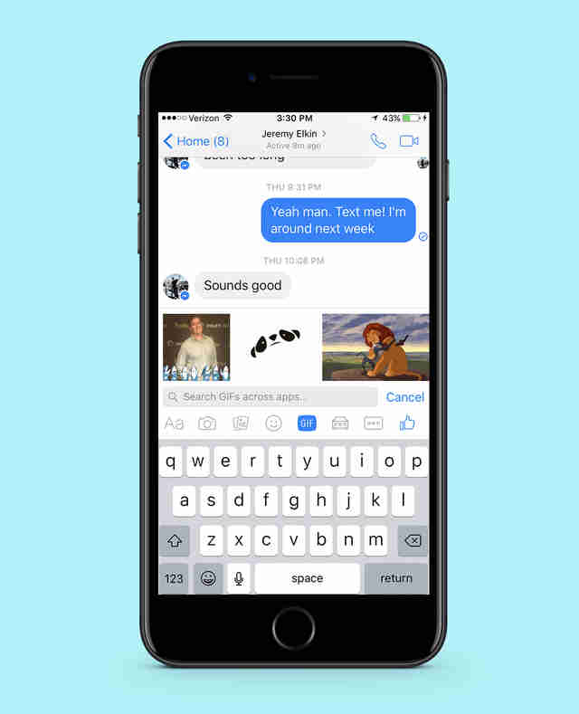 facebook messenger in iphone