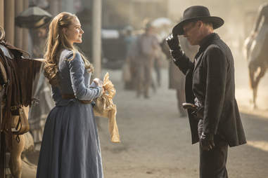 evan rachel wood and ed harris in westworld