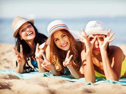 single ladies still need friends girls on the beach