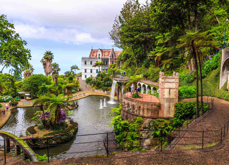 Monte Palace Tropican Garden in Funchal, Madeira island, Portugal