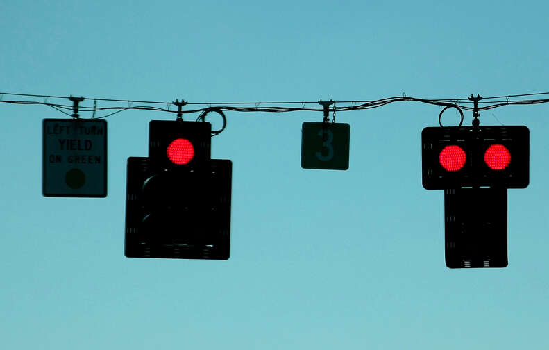 Red Lights in an intersection
