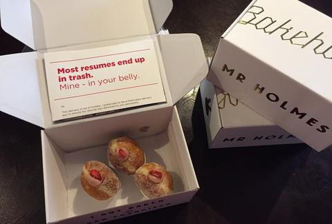 This Guy Hides His Resume in Boxes of Donuts to Score Job