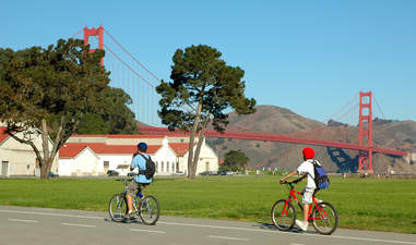 riding a bicycle in san francisco