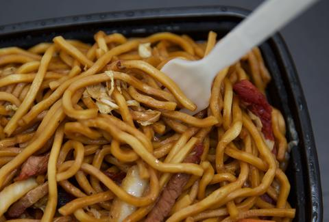 lo mein Chinese noodles