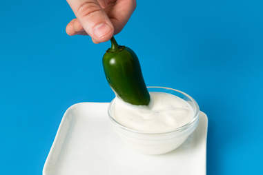 Jalapeños and ranch