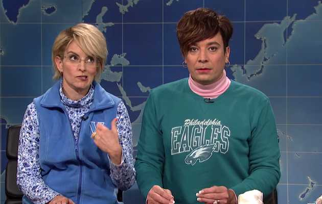 Tina Fey & Jimmy Fallon Return to 'SNL' to Own Weekend Update