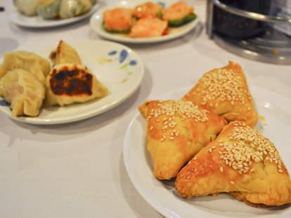 Chinese food dumplings buns