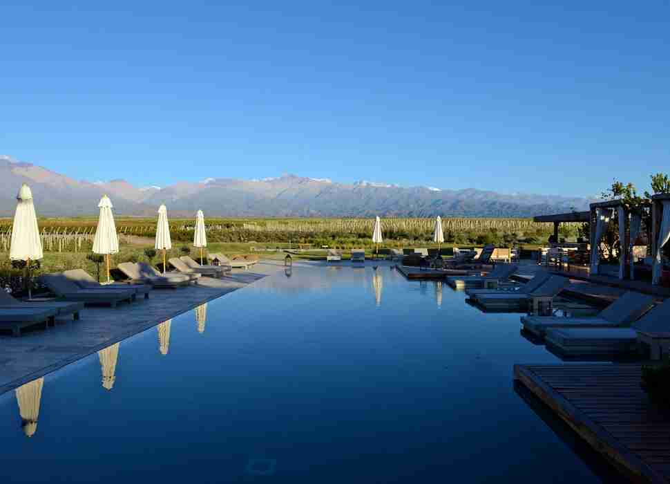 Pool at The Vines Resort, Mendoza, Argentina
