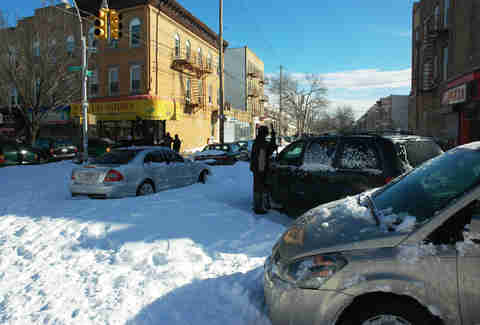 alternate side parking nyc in winter snow