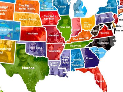 favorite tv show in every state us