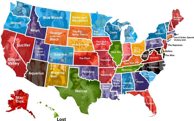 tv shows watched in every state