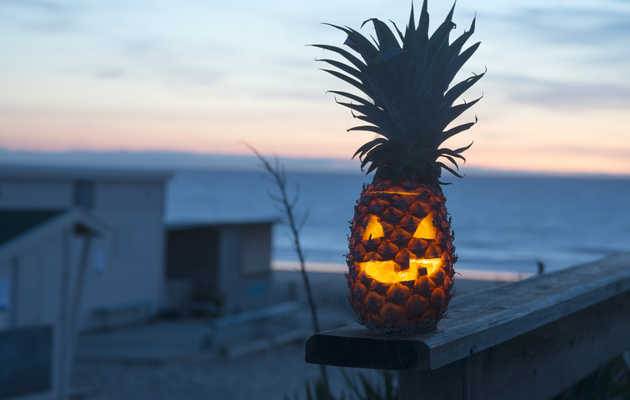 Pineapple Jack-O'-Lanterns Are Here to Make Halloween Tropical