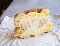 Kossar's Lower East Side New York egg and cheese bialy