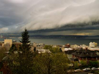Stormfront approaching Seattle