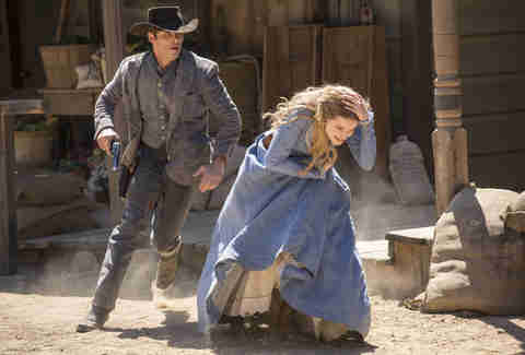 james marsden and evan rachel wood on westworld hbo