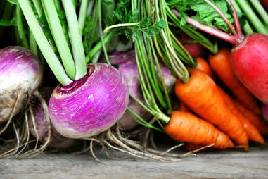 leafy root vegetables