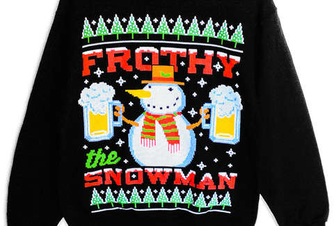 Booze,Themed Ugly Christmas Sweaters , Thrillist