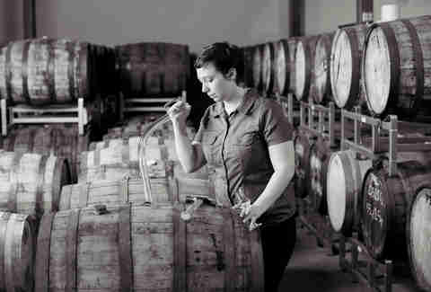 Maggie Campbell distilling