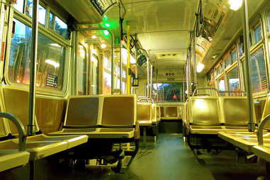 Empty Muni Bus