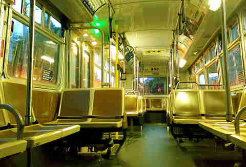 Empty Muni Bus