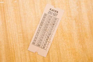 Katz's ticket