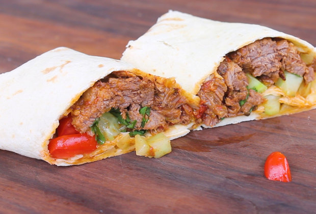 Slow Down and Grill up These Barbacoa Beef Wraps