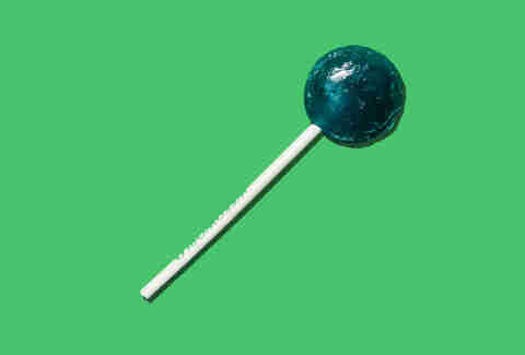 Blue Weed Lollipop