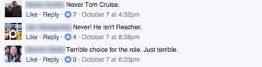Jack Reacher Tom Cruise Short Facebook