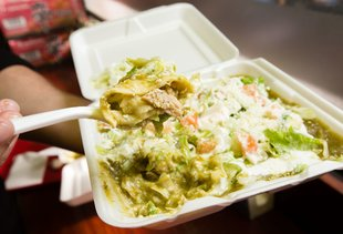 The Best Thing We Ate for Under $10 This Week: New York Bakery's $9 Chicken Enchiladas Verdes