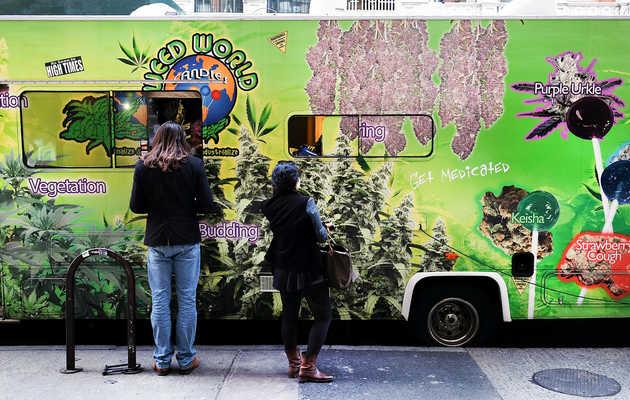 What's the Deal With Those NYC Weed Trucks? We Did a Weed Lollipop Taste-Test to Find Out.