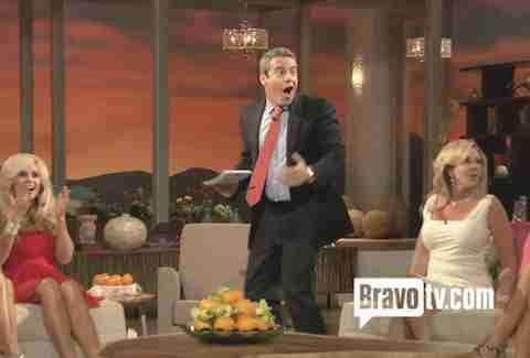 bravo andy cohen bird attack real housewives of orange county