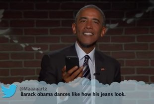 President Obama Reads Some Very Mean Tweets on 'Kimmel'