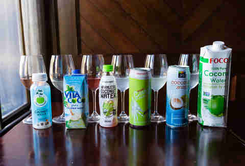 coconut water tasting