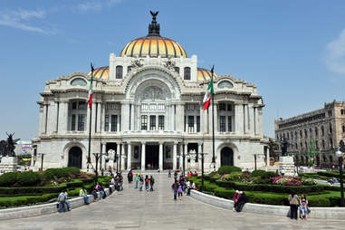 The Fine Arts Palace in Mexico City, Mexico