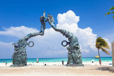 Portal Maya monument in Playa del Carmen, Mexico