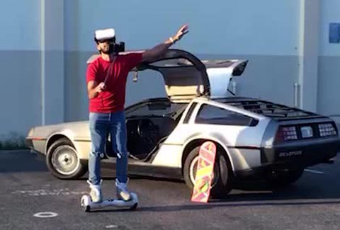welcome 2 the future delorean hoverboard selfie stick vine
