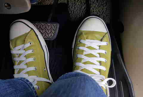 Why Sneakers Are Actually Terrible Shoes to Drive In