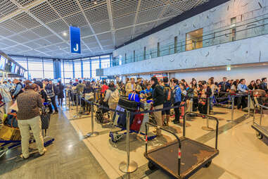 Airport Check in lines