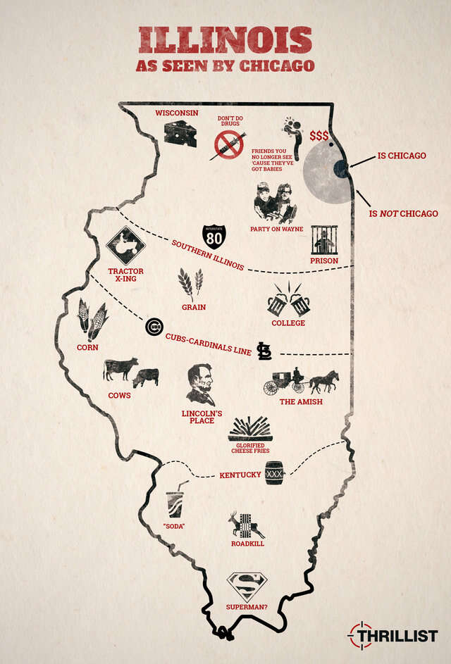 Illinois as seen by Chicago