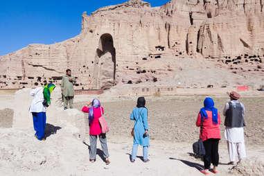 Tourists in Bamiyan