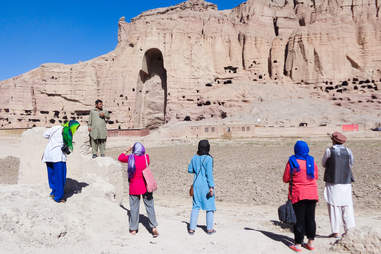 Tourists in Bamiyan