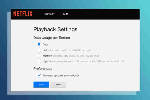 Netflix settings