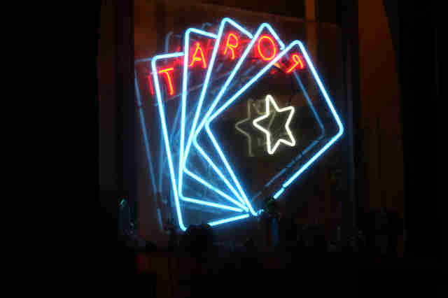 tarot neon sign
