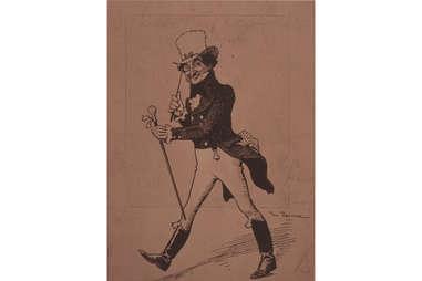 Johnnie Walker Striding Man Logo, 1908 Sketch-Supercall