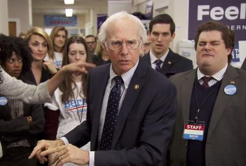 saturday night live larry david bernie sanders bern your enthusiasm