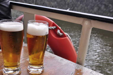 beer on a boat