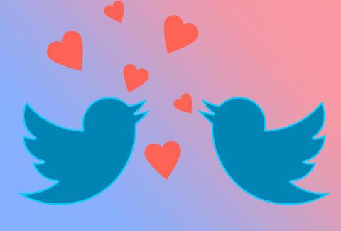 Dating through twitter