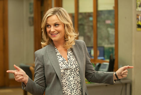amy poehler as leslie knope on nbc parks and rec