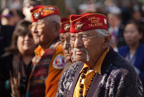 navajo code talker veterans in veterans day parade